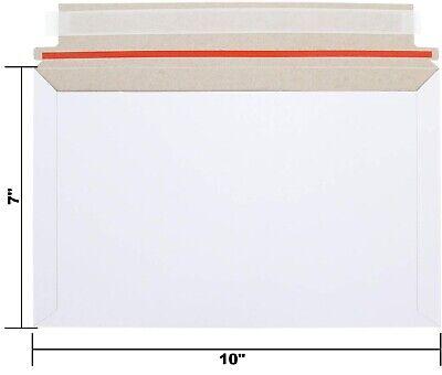 100- 7 X 10 Self Seal Rigid Photo Shipping Flats Cardboard Envelope Mailers