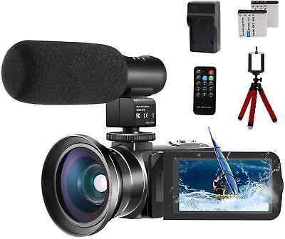 Video Camera 1080P Camcorder Cofunkool 24.0Mp Vlogging Camera Youtube 270°