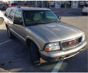 2001 GMC Jimmy, still driving, sold As-Is