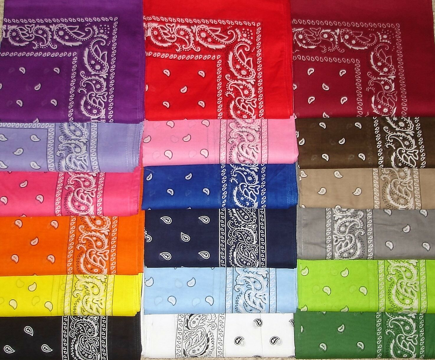 new cotton paisley print scarf bandana handkerchief