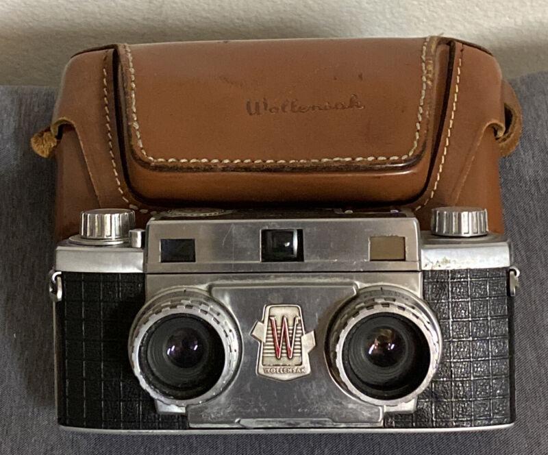 1950s VINTAGE ANTIQUE RARE WOLLENSAK 35mm 3D VIEWFINDER STEREO 10 CAMERA f/2.7