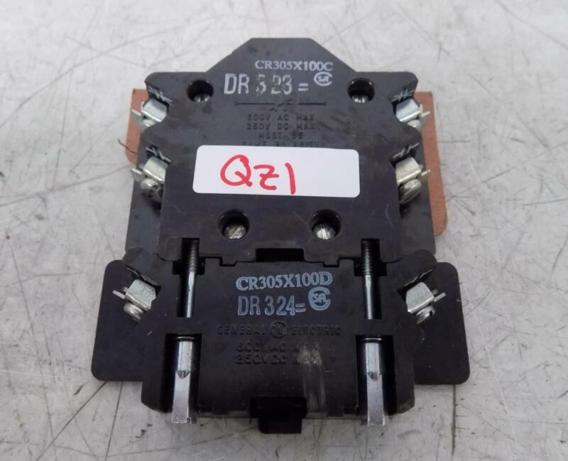 GENERAL ELECTRIC 600VAC / 250VDC CONTACTOR DR323 / DR324