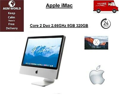 "Apple iMac A1224 20"" Core 2 Duo 2.66GHz 8GB 320GB Nvidia 9400 OSX El Capitan"