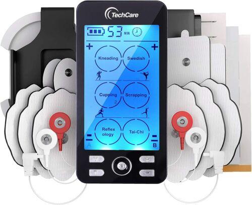 TechCare Tens Unit Plus 24 Rechargeable Electronic Pulse Massager + Belt Clip
