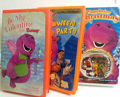 Before Halloween Party (3 BARNEY Children's VHS Tapes Valentine, Halloween Party, Night before)