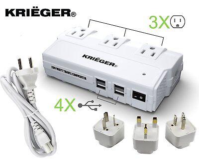 200w Travel Converter Voltage Transformer Step Down 220-230 volt to 110v Adapter (Travel Voltage Converter)