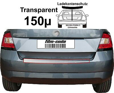 Lackschutzfolie Ladekantenschutz für Skoda Fabia 3 Limousine transparent 150µ