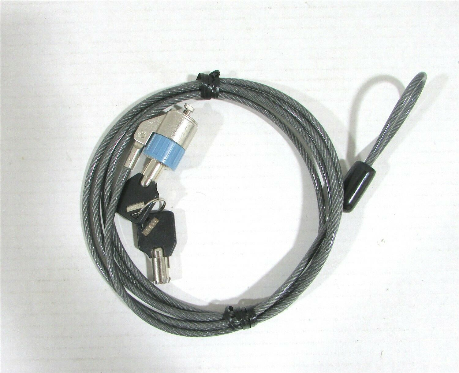 New Brenthaven Zero Impact Laptop Cable Lock #4100 Computer Notebook with 2 Keys