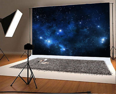 5x3ft Background Photography Backdrop Studio Prop Starry Sky Scene Night Show