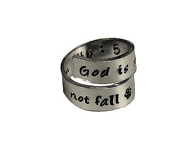 Psalm 46:5 God Is Within Her, She Will Not Fail - Wrap Twist Ring -- Adjustab...