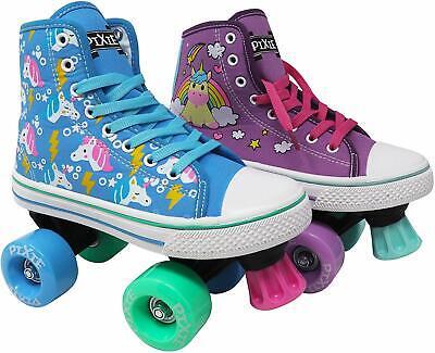 Lenexa Pixie Unicorn Kids Roller Skates Girls Quad Roller Skate Size J10 - kids