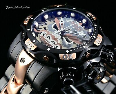52MM Invicta Reserve VENOM SAMURAI DRAGON Swiss Quartz Black & Rose Gold Watch