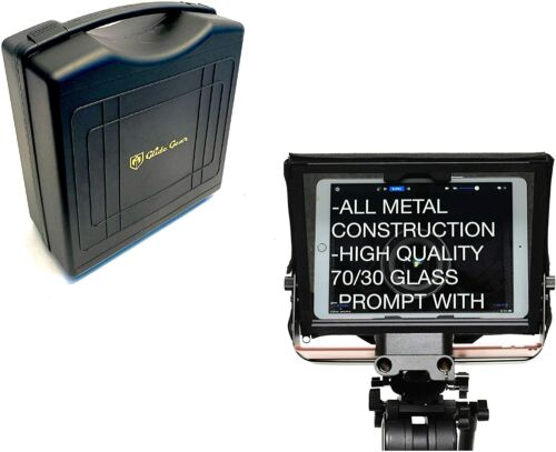 Portable Teleprompter iPad Tablet Prompter 70/30 Beam Glass Video Camera DSLR