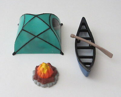 1 Fireside Camp Fire 4 Pc Decoset Camping Tent Canoe Birthday Cake Topper Decor](Tent Decorations)