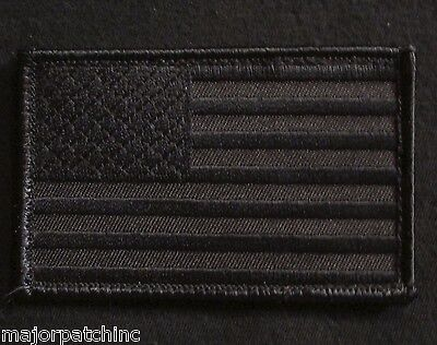 USA AMERICAN FLAG ARMY MORALE MILITARY COVERT BLACK OPS VELCRO® BRAND PATCH