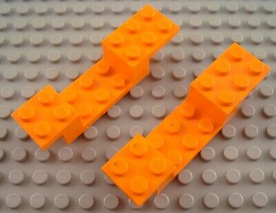 LEGO Lot of 2 Orange 2x4 Car Curved Vehicle Mudguards Parts and Pieces