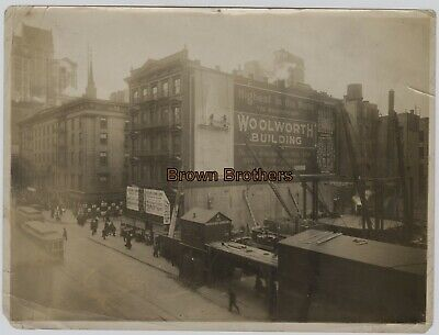 Vintage 1911 NYC Woolworth Bldg Construction Highest Building Sign Photos #9 (2)