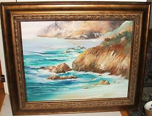 LINDA-HONN-ORIGINAL-OIL-ON-CANVAS-SEASCAPE-PAINTING