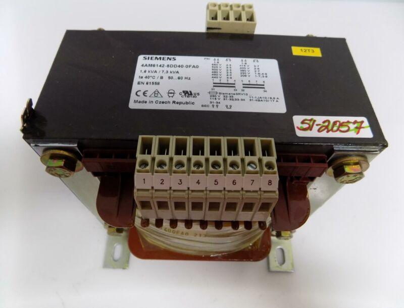 SIEMENS1.6kVA/7.3kVA TRANSFORMER 4AM6142-8DD40-0FA0