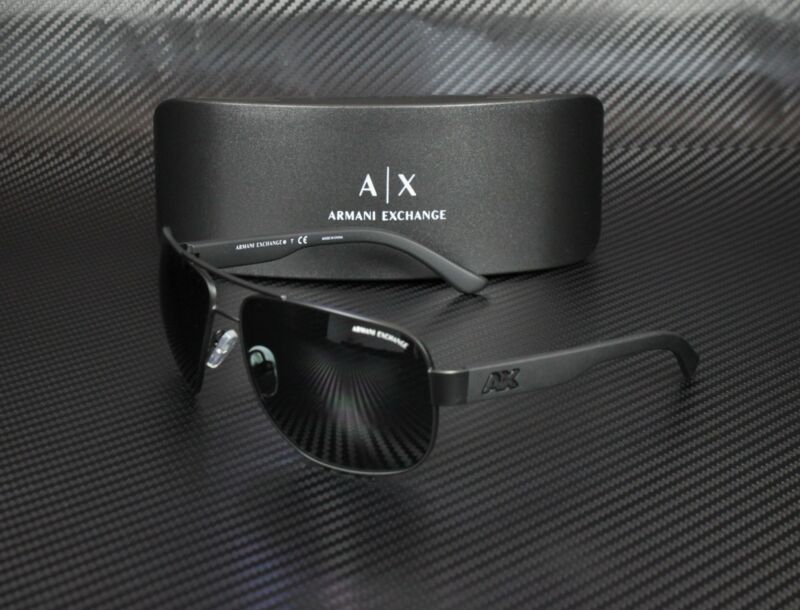 ARMANI EXCHANGE AX2012S 606387 Satin Black Bk Grey SoIId 62 mm Men