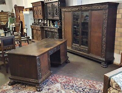 Bücherschrank Schreibtisch (Bücherschrank Schreibtisch Löwentatzen Lieferung möglich sehr dekorativ 35273528)