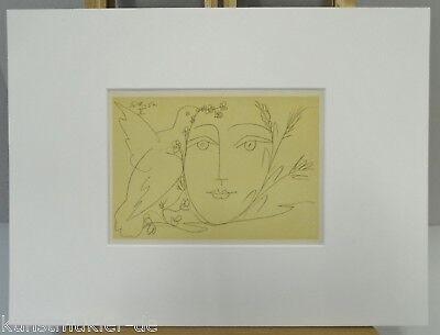PICASSO Original Mourlot Lithograph Visage 5.12.50 - 05