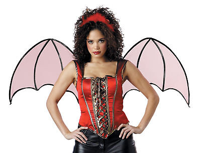 - Devil Club Adult Accessory Kit Red Corset Wings Evil Villain Halloween Costume