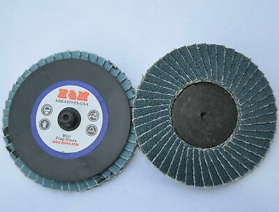 10 2 Inch Flap Disc 120 Grit Roloc Quick Change Twist Lock Sanding Grinding Pad