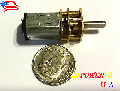 6v 60rpm Dc Geared Speed Reduce Motor With Gearwheel Modelga12-n20 Ship Fm Usa