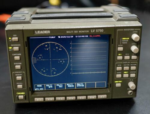 Used Leader LV5750 Multi SDI Waveform Monitor