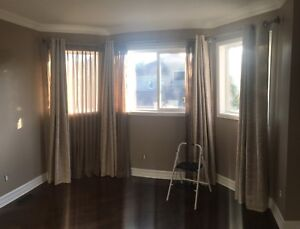 Integrated Bay window double rod curtain and shears $125.00