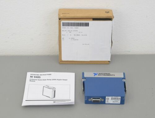 New National Instruments NI 9485 8 CH Channel Solid State cDAQ Compact Relay