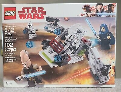 Lego Star Wars 75206 Jedi & Clone Troopers Battle Pack New, Sealed