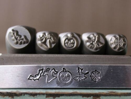 SUPPLY GUY 7mm/6mm Halloween Metal Punch 5 Stamp Set SGCH-246247248249250