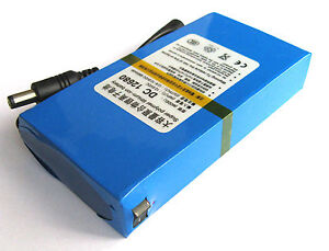 Cc-12V-Battery-Pack-Li-Ion-ricaricabile-per-CCTV-Camera-6800mAh-LITIO-UK