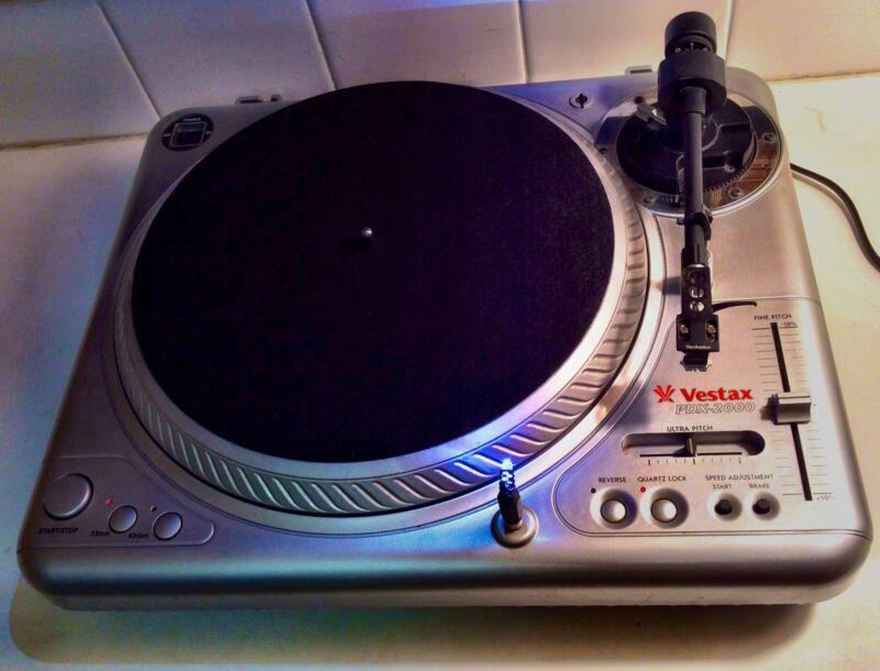 Vestax PDX-2000 Professional DJ Turntable W/ Shure M44-7 Cart/Stylus Serviced!