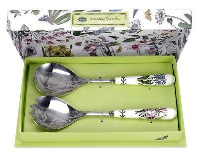 Portmeirion Botanic Garden Salad Server Set ~ New In Box Garden Salad Server