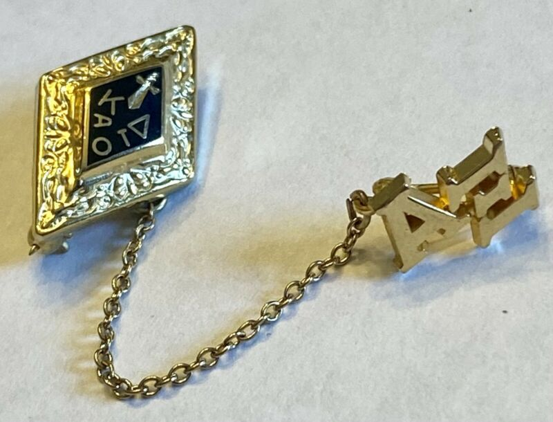 Fraternity / Sorority   Pin Set  Kappa Alpha Omicron Tau Delta   Chain  Alpha Xi