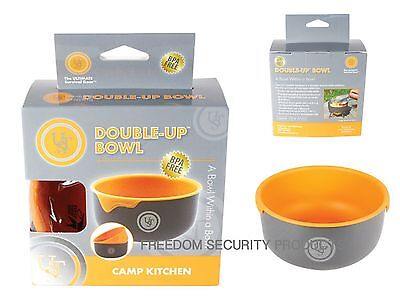 Ultimate Survival Double Up Bowl Orange Hard anodized aluminum