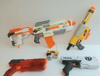 Nerf Gun Blaster Lot Of 5 Modulus Recon CS6 Nerf Rival Strongarm Tested Works