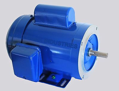 Ac Motor 34hp 1725rpm 1ph 115v208-230v 56ctefc With Base