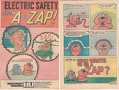 ELECTRICITY FROM A TO ZAP 1972 NORTHEAST UTILITIES ELECTRIC GIVEAWAY PROMO VF