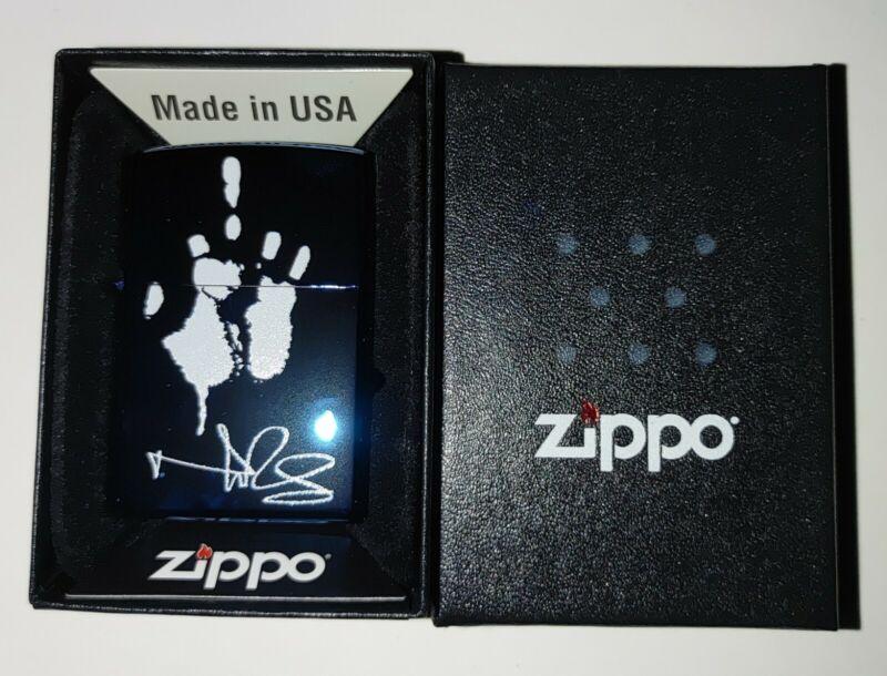 Norman Reedus Exclusive Signature Series Zippo Lighter Limited Ed. BLUE METALLIC