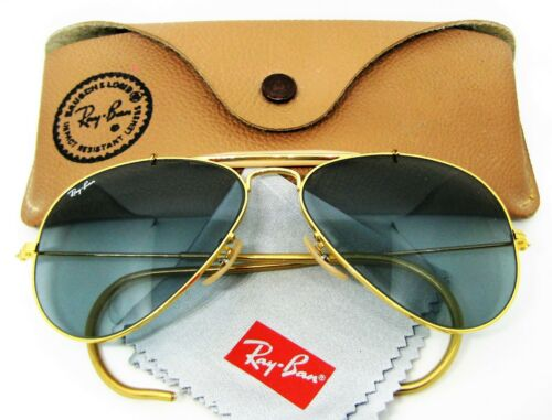 Ray-Ban USA NOS Vintage B&L Aviator Outdoorsman Blue Changeables New Sunglasses