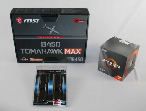 AMD 3800X Ryzen 7 + MSI B450 Tomahawk MAX Motherboard & 32GB DDR-4 3200 COMBO