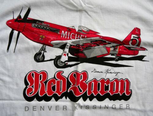 RED BARON P-51 RENO AIR RACES DENVER KISSINGER SIGNED T-SHIRT M