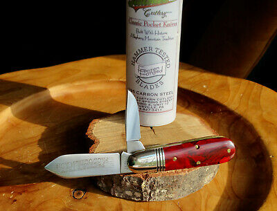 Great Eastern Cutlery 252208 Barlow Inferno Red Acrylic Factory Test Prod Run