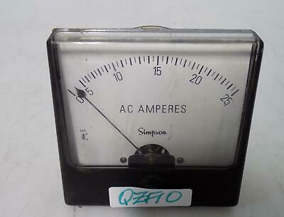 Simpson 0-25 Ac Amperes Panel Meter