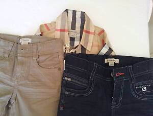 Kids Burberry shirt and 2 Burberry Pants, 4- 5 years old Hornsby Hornsby Area Preview