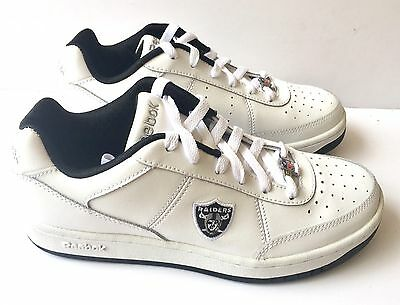 Oakland Raiders Shoes - NFL Reebok White Recline - Mens Size 6.5 Sneakers for sale  Lakeland